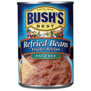 An image of Bush's Fat Free Refried Beans.