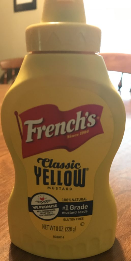 A picture of French's mustard bottle.