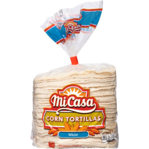 An image of Mi Casa White Corn Tortillas for tacos.