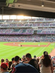 Image of SunTrust Park infield from the seats