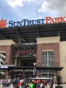 Image of SunTrust Park from the Third Base Gate