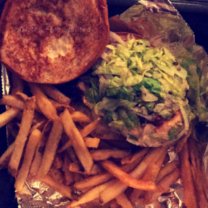 Grilled Chicken Sandwich & fries from Ruby Tuesday