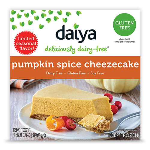 Daiya Pumpkin Spice Cheezecake is allergen-free.
