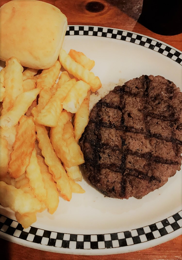 Hamburger steak & fries