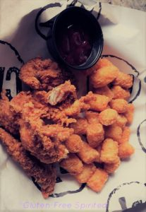 Chicken Tender and tater tots
