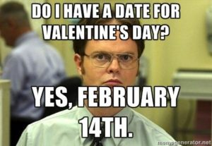 Dwight Valentine's Day meme