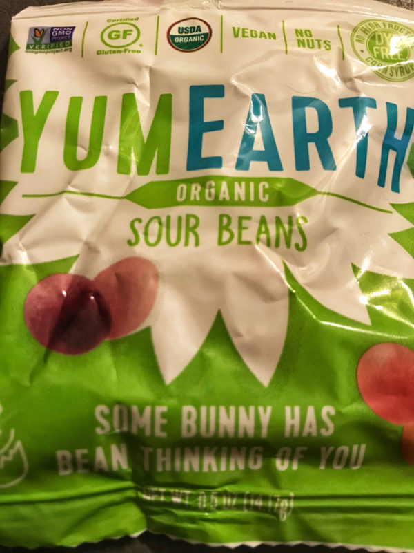 Yum Earth beans package