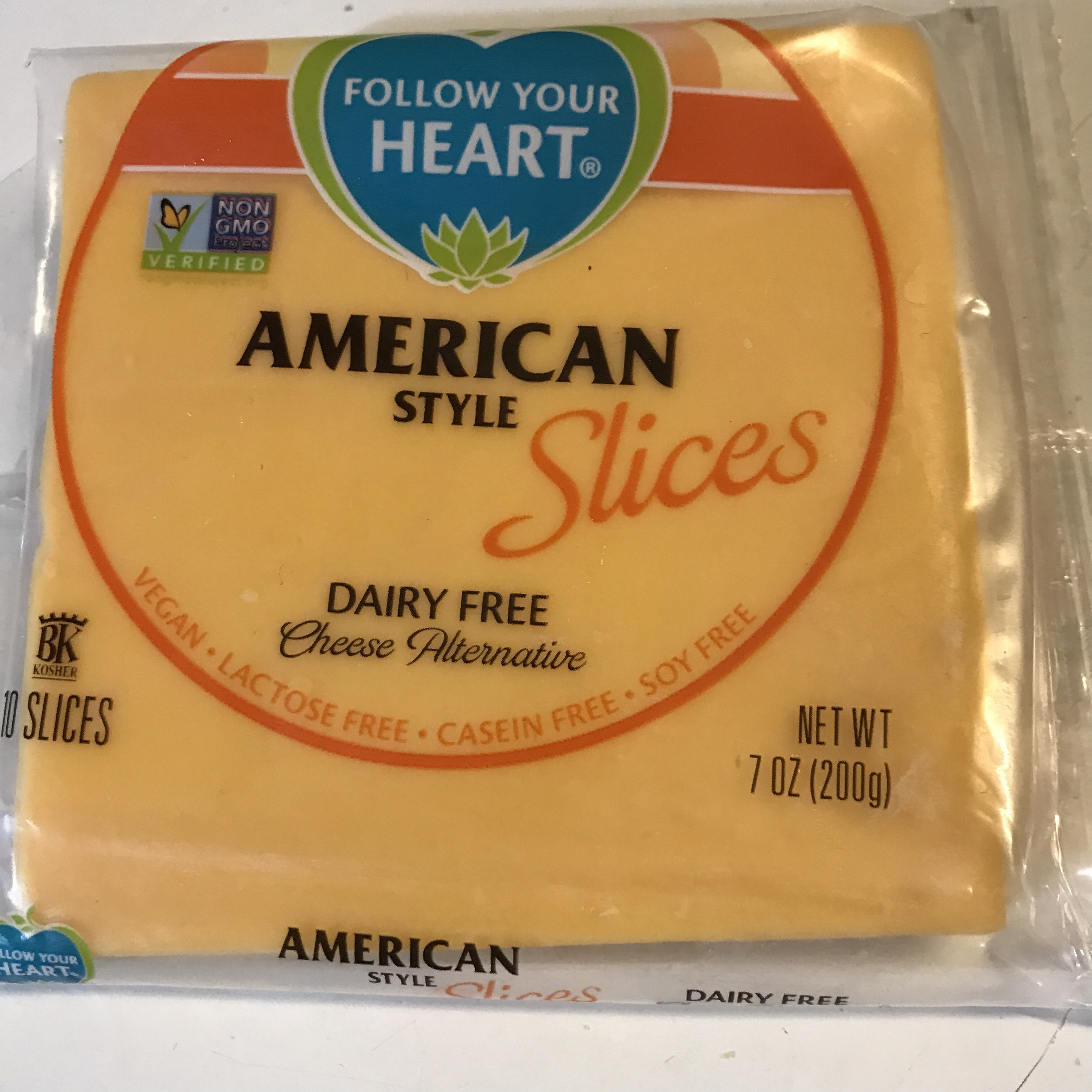 Follow Your Heart American Cheese slices