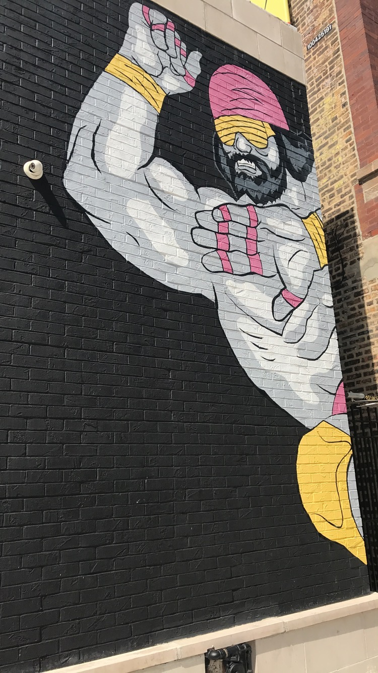 Macho Man mural