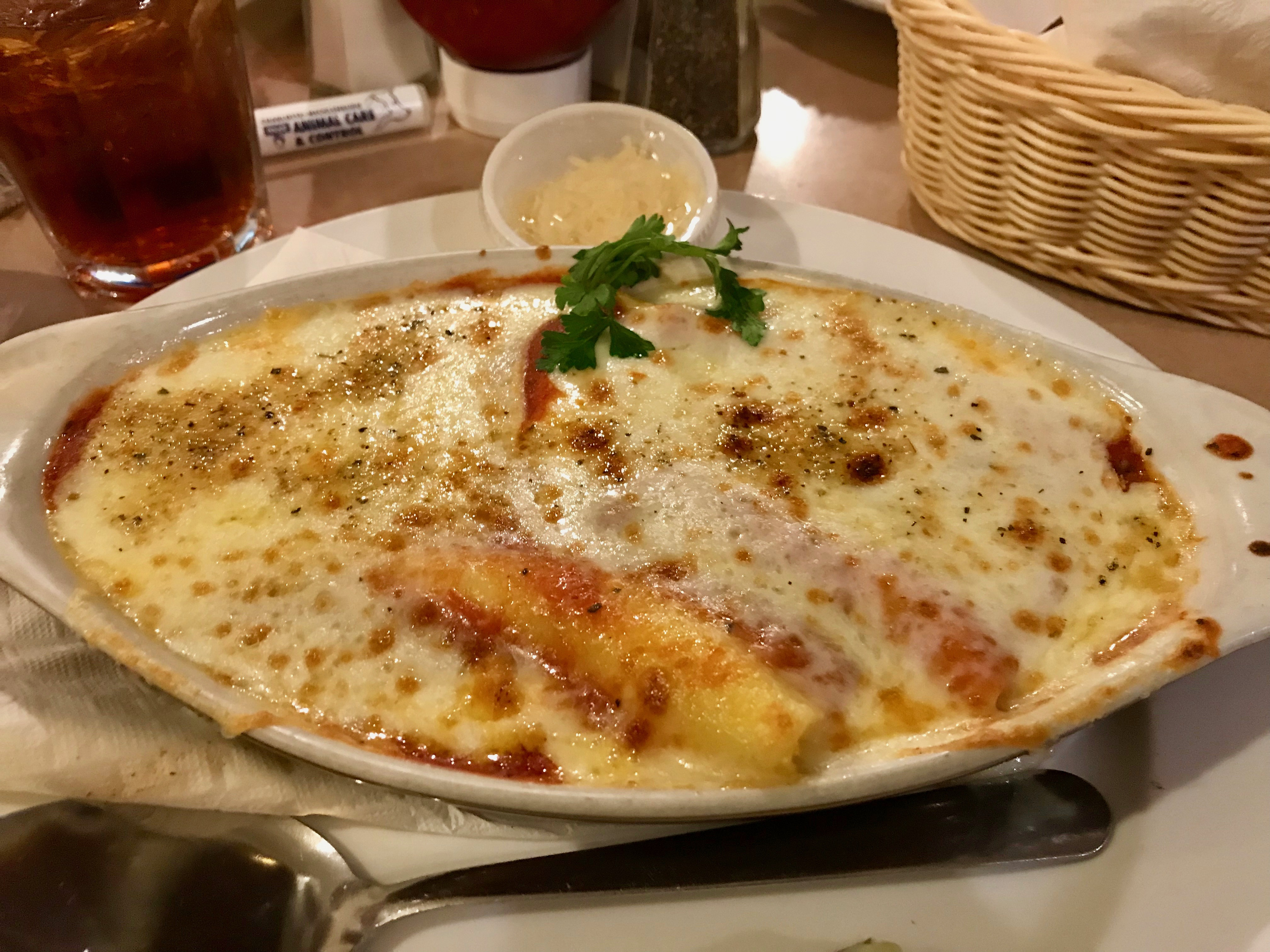 Manicotti from Landmark Diner