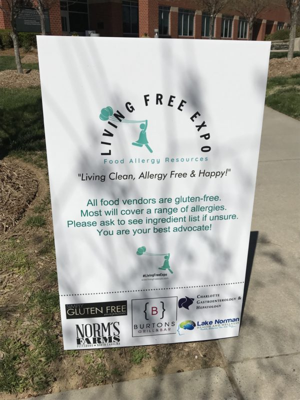 Living Free Expo sign
